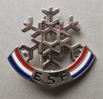 - Broche. Insigne. Ski. ESF - Flocon - - Winter Sports