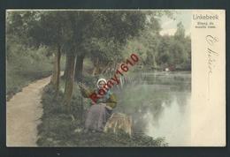 Linkebeek. Etang Du Moulin Rose. Petite Paysanne. Nels Série 11, N°361.   1905.  2 Scans. - Linkebeek