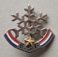 - Broche. Insigne. Ski. ESF - 1 étoile - - Winter Sports