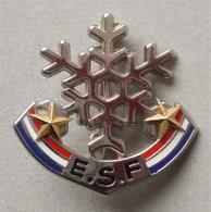 - Broche. Insigne. Ski. ESF - 2 étoiles - - Winter Sports