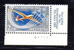 510/1500 - SVIZZERA 1963 , Posta Aerea Unificato N. 45 Con Gomma Integra  ***  MNH Pro Aereo - Nuevos