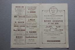 Eglise Réformée De Montivilliers, Criquetot, Harfleur (Seine Maritime), Programme Matinée Récréative 14 Mars 1937 - Programmes