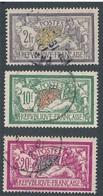 CP-262: FRANCE: Lot Avec N°122-207-208 Obl - 1900-27 Merson