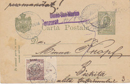 Entier Postal Roumain Recommandé + Timbre Transylvanie + Censure ,de Besztercze Pour Bistrita  ,1919 - Siebenbürgen (Transsylvanien)