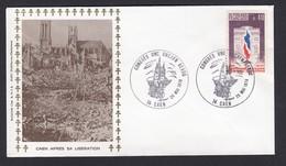 France French Cover Lettre 1979 Cover WW2 Caen Apres La Liberation Cachet Congres Unc Uncafn Aevog Cancel - Covers & Documents