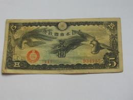 5 Yen 1940  Japon - Occupation Militaire De La Chine   **** EN ACHAT IMMEDIAT **** - Japan