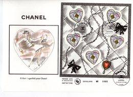 """"""" SAINT VALENTIN COEURS DE CHANEL / LAGERFELD """" Sur Enveloppe 1er Jour Grand Format N°tée De 2004 N° YT BF 66 Parf. état - 2000-2009"""