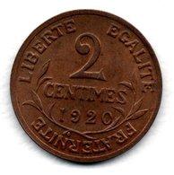 Dupuis  -  2 Centimes 1920  -  état TTB - B. 2 Centimes