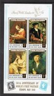 COOK ISLANDS, 1990 150th Anniversary Of World's First Postage Stamps S/s MNH (London'90) - Islas Cook
