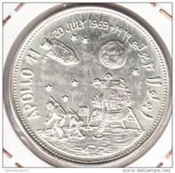 YEMEN 1969 2 RIALS.EL HOMBRE EN LA LUNA .PLATA  .NUEVA SIN CIRCULAR (Arcos 1) - Yemen
