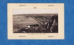 Chromo Ancien Avant 1900 - NICE - Vue Générale Prise Du Château - Biscuits SCAPINI - Confectionery & Biscuits