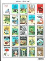 Personnages De Bandes Dessinée De Hergé (feuille De 24 Timbres Représentant Les Couvertures De 24 Albums De Tintin) - Belgique