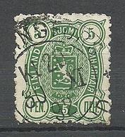 FINLAND FINNLAND 1890 Michel 28 Rough Perforation Variety O - Gebraucht
