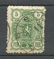 FINLAND FINNLAND 1890 Michel 28 Rough Perforation Variety O KARISLOJO - 1856-1917 Administration Russe
