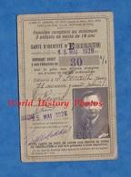 Carte D'identité Ancienne - 1926 - Chemin De Fer Alsace Lorraine Est & Etat - Jean FENAUT , Reims - Train Famille - Titres De Transport
