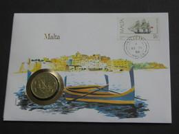 Malte 10 Cents 1972  - Monnaie Sur Enveloppe   **** EN ACHAT IMMEDIAT **** - Malta