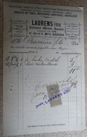 Facture Ancienne  - Laurens Frères - Services De Table,orfèvrerie,christofle - Béziers - 1890 - Francia