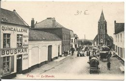 Pecq -  Le Marché Avec Attelages , Quincaillerie - Pecq