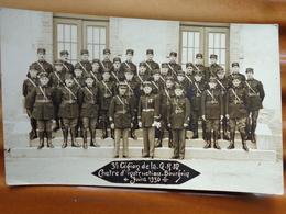 38 BOURGOIN CARTE PHOTO  MILITAIRES  GENDARMERIE 3 EME LEGION CENTRE D'INSTRUCTION JUIN 1930 - Bourgoin