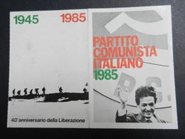19917) PARTITO COMUNISTA TESSERA 1985 - Documenti Storici
