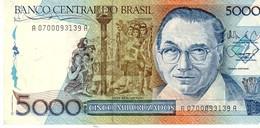 Brazil 214   5000 Cruzados 1988 Xf - Brasile