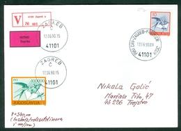 Yugoslavia 1990 FDC Definitive Issue Michel 2429 C Swallow Valuable Letter Postal Traffic Micel 2391 C Inflation - 1945-1992 Socialist Federal Republic Of Yugoslavia