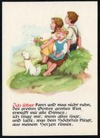 C4300 - TOP Glückwunschkarte - Kinder Hund Dog - Künstlerkarte - Verlag Max Müller Karl Marx Stadt - DDR - Fêtes - Voeux