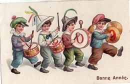 17 Année, Date, Millesime 1909 - 4 Enfants Tambour Gaufré - Anno Nuovo
