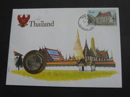 Thailland 1 Bath  - Monnaie Sur Enveloppe   **** EN ACHAT IMMEDIAT **** - Tailandia