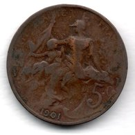 Dupuis  -  5 Centimes 1901 -  état B+ - C. 5 Centimes