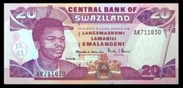 # # # Banknote Swaziland 20 Emalangeni 1998 UNC # # # - Swaziland