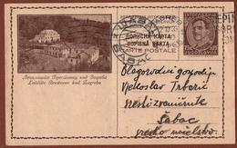 YUGOSLAVIA-CROATIA, BRESTOVAC Near ZAGREB, 1st EDITION, DARK BROWN CARDBOARD ILLUSTRATED POSTAL CARD RRR!! - Ganzsachen