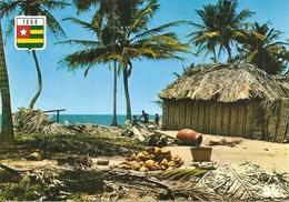 Afrique. CPM. Togo. Lot De 2 Cartes (Village Au Bord De Mer / Charrette De Noix De Coco) (animée) - Togo