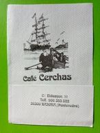 Servilleta,serviette Café Cerchas,Pontevedra.Espanha - Serviettes Publicitaires