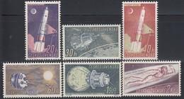 CSSR 1961  - MiNr: 1252-1257  Komplett * / MLH - Raumfahrt