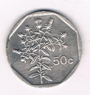 50 CENTS 2001  MALTA /3111/ - Malte