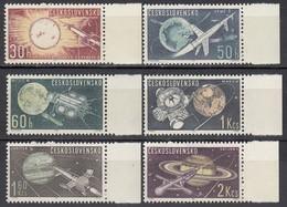 CSSR 1963  - MiNr: 1396-1401  Komplett * / MLH - Raumfahrt