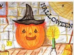 HALLOWEEN, Citrouille, Souris,  Gruyere, Balai, Bougie, Illustrateur - Halloween