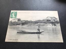 SAINT JEAN DE NIOST Passage De La Riviere D'Ain En Traille - 1916 Timbrée - France