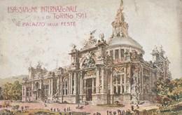 8378.  Torino - Palazzo Delle Feste. Esposizione Internazionale  Di Torino - 1911 FP - NV - Exhibitions