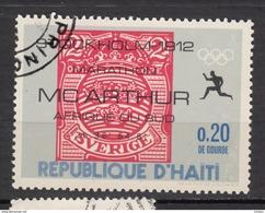 Haïti, Haitia, Jeux Olympiques De Stockholm Olympic Games, Marathon, Timbre Sur Timbre, Stamp On Stamp - Sommer 1912: Stockholm