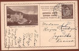 YUGOSLAVIA-SLOVENIA, GOLNIK, 1st EDITION, LIGHT BROWN CARDBOARD ILLUSTRATED POSTAL CARD RRR!! - Ganzsachen