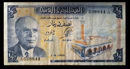 # # # Sehr Seltene Banknote Tunesien (Tunisia) 1/2 Dinar 1965 # # # - Tunesien