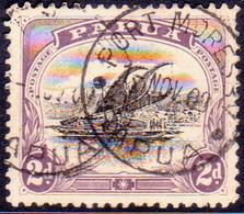 "PAPUA (BRITISH NEW GUINEA) 1908 SG #50 2d Used Small ""PAPUA"" Wmk Upright Perf.11 - Papua New Guinea"