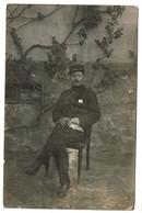 WWI - Carte Photo - Prisonnier De Guerre - Zerbst - Photo Friedr. Seidig Oranienbaum - 2 Scans - Guerra 1914-18