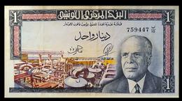 # # # Eher Seltenere Banknote Tunesien (Tunisia) 1 Dinar 1965 # # # - Tunesien