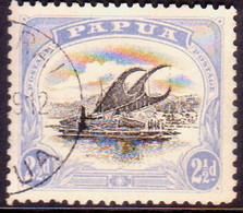 "PAPUA (BRITISH NEW GUINEA) 1908 SG #51a 2½d Used Small ""PAPUA"" Wmk Upright Perf.11 - Papua New Guinea"