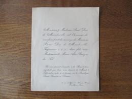 RENNES LE 8 SEPTEMBRE 1936 MADEMOISELLE MARIE-ALIX PINCZON DU SEL AVEC MONSIEUR PIERRE DOE DE MAINDREVILLE - Mariage