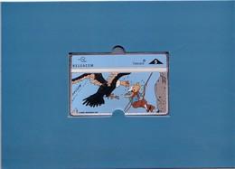 TINTIN 6ème Carte Belgacom Neuve - LE TEMPLE DU SOLEIL N°2 - Tirage 4000 Ex - Carte Numéro VI/VI  N° 0709 - BD