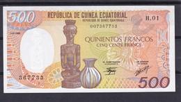 Ecuatorial  Guinea  500 Fr 1985 UNC - Billets